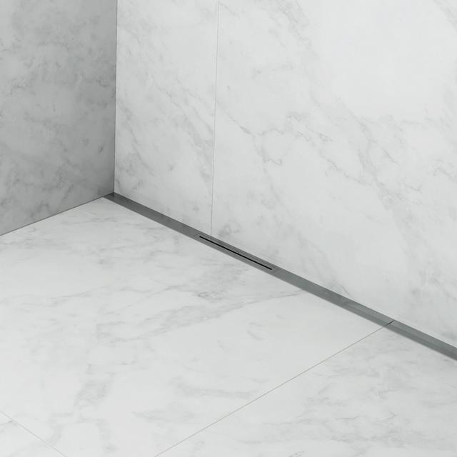 ESS R-Line Waterstop Wall shower channel including cover brushed stainless steel