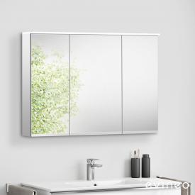 Evineo ineo Armoire de toilette avec éclairage LED intégré, 3 portes
