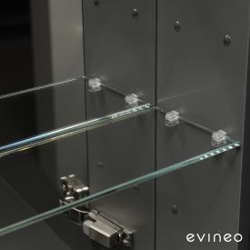 Evineo ineo Set d'étagères en verre pour armoire de toilette l : 60 cm, 2 éléments