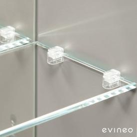 Evineo ineo set of shelf support pins for mirror cabinet, 8 pieces