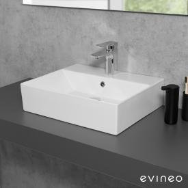 Evineo ineo3 edge Lavabo à poser ou à monter au mur l : 50 P : 42 cm