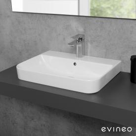 Evineo ineo3 soft countertop or wall-mounted washbasin W: 57.1 D: 43.6 cm