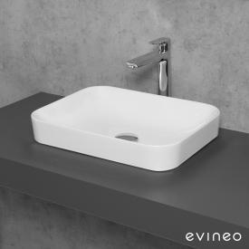 Evineo ineo3 soft countertop washbasin W: 50 H: 11.8 D: 38 cm