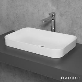 Evineo ineo3 soft Lavabo à poser l : 60 H : 11,8 P : 38 cm
