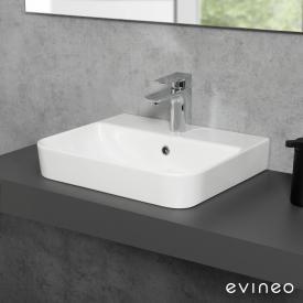 Evineo ineo3 soft Lavabo à poser ou à monter au mur l : 47,8 P : 41,7 cm