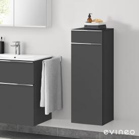 Evineo ineo4 side unit with 1 drawer, 1 door, with handle front matt anthracite / corpus matt anthracite
