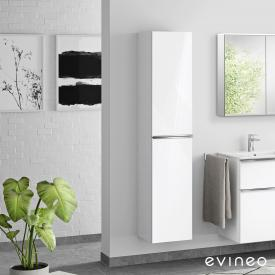 Evineo ineo4 tall unit with 2 doors, with handle front white high gloss / corpus white high gloss