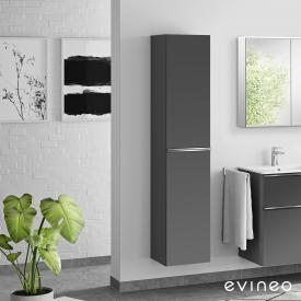 Evineo ineo4 tall unit with 2 doors, with handle front matt anthracite/corpus matt anthracite