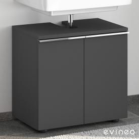 Evineo ineo4 vanity unit without washbasin connection with 2 doors, with handle front matt anthracite/corpus matt anthracite
