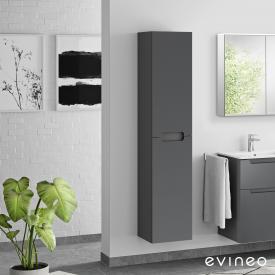 Evineo ineo5 Armoire haute avec 2 portes, avec poignée encastrée Façade anthracite mat/corps du meuble anthracite mat