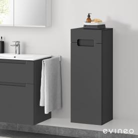 Evineo ineo5 side unit with 1 drawer, 1 door, with recessed handle front matt anthracite / corpus matt anthracite