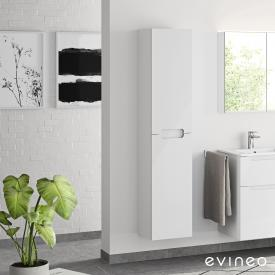 Evineo ineo5 tall unit with 2 doors and with recessed handle front white high gloss / corpus white high gloss