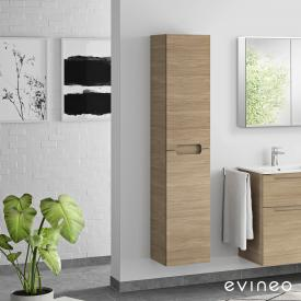 Evineo ineo5 tall unit with 2 doors, with recessed handle front oak / corpus oak