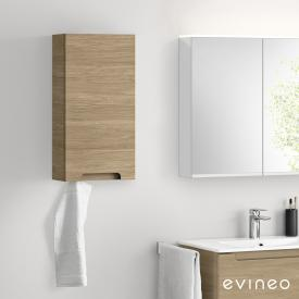 Evineo ineo5 wall unit with 1 door, with recessed handle front oak / corpus oak