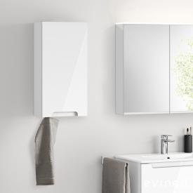 Evineo ineo5 wall unit with 1 door, with recessed handle front white high gloss / corpus white high gloss