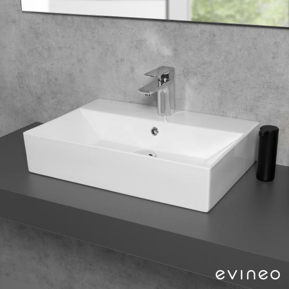 Evineo ineo3 edge Countertop or Wall-Mounted Washbasin W: 60 D: 42 cm