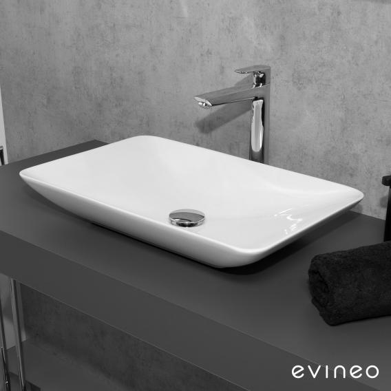 Evineo ineo3 soft countertop washbasin W: 60 H: 9.8 D: 37.7 cm