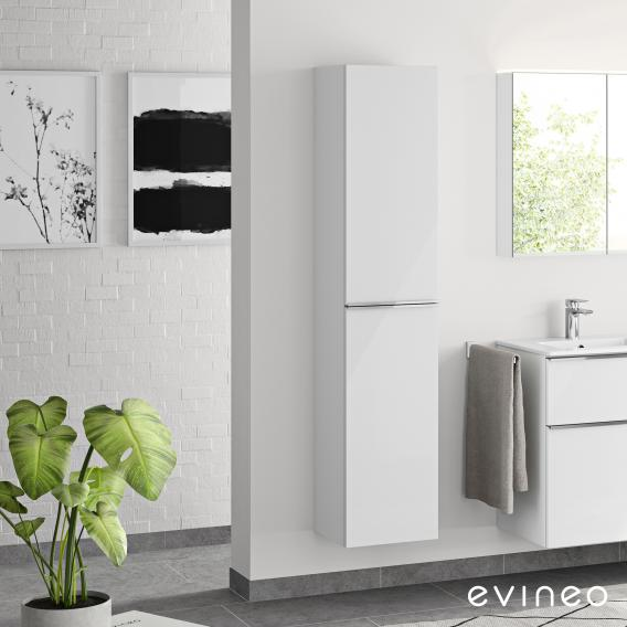 Evineo ineo4 tall unit with 2 doors and handles front white high gloss / corpus white high gloss
