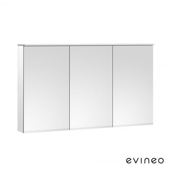 Evineo ineo mirror cabinet with integrated LED lighting, with 3 doors