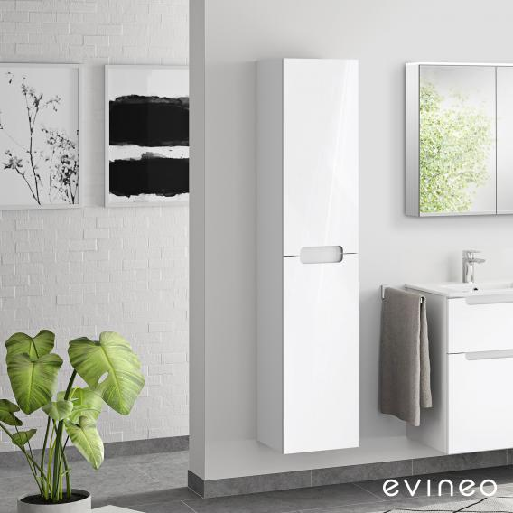 Evineo ineo5 tall unit with 2 doors, with recessed handle front white high gloss / corpus white high gloss