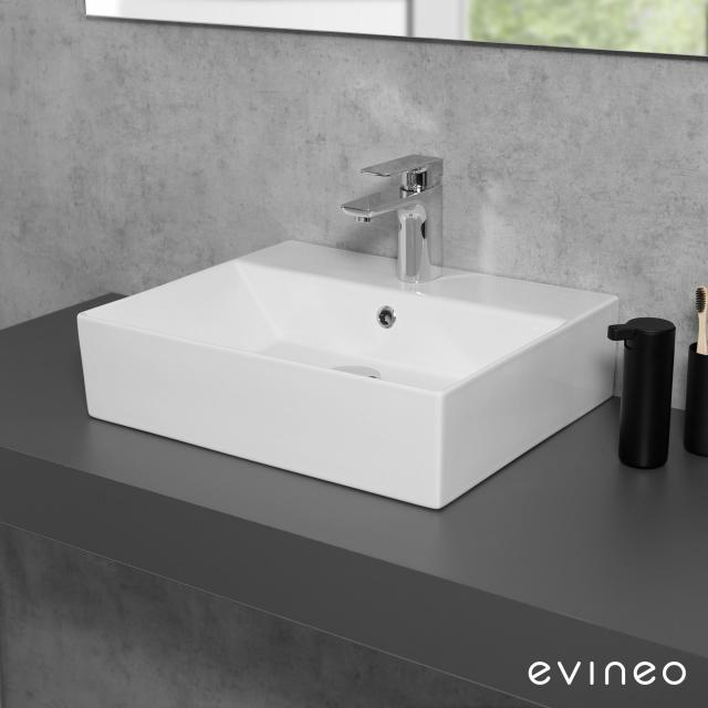 Evineo ineo3 edge countertop or wall-mounted washbasin W: 50 D: 42 cm