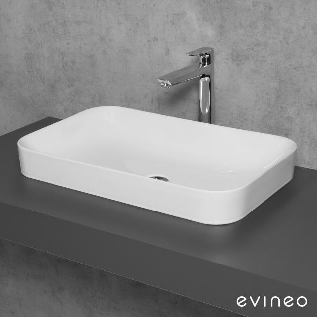 Evineo ineo3 soft countertop washbasin W: 60 H: 11.8 D: 38 cm