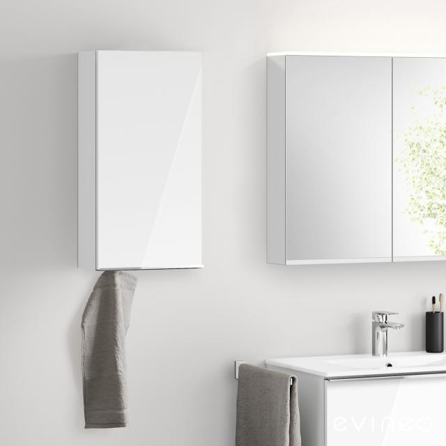 Evineo ineo4 wall unit with 1 door, with handle front white high gloss / corpus white high gloss