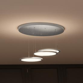 EVOTEC Bellini LED pendant light with dimmer 3 heads round
