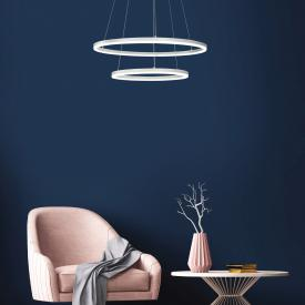 Fabas Luce Giotto LED pendant light, 2 heads