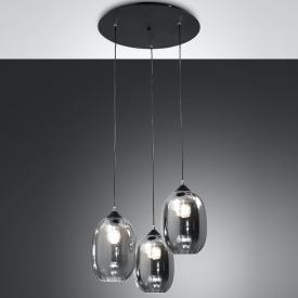 Fabas Luce Infinity pendant light, 3 heads