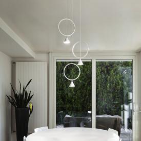 Fabas Luce Sirio LED pendant light 3 heads, round