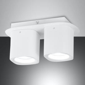 Fabas Luce Smooth spotlight / ceiling light, 2 heads