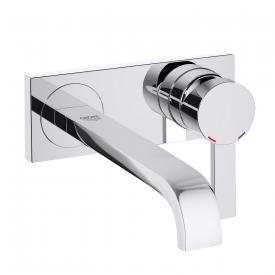 Grohe Allure wall-mounted two hole washbasin mixer projection: 220 mm