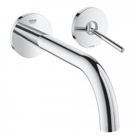 Grohe Atrio wall-mounted two hole basin mixer projection: 221 mm, chrome