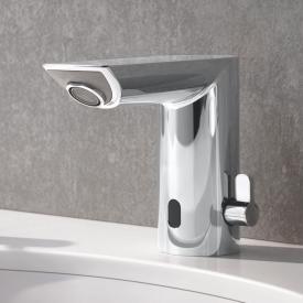 Grohe Bau Cosmopolitan E Robinetterie de lavabo avec capteur infrarouge, avec limiteur de température sur batterie