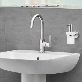 Grohe BauEdge single lever basin mixer, L-Size with plastic pop-up waste set