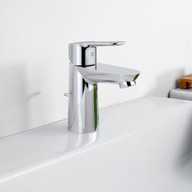 Grohe BauEdge single lever basin mixer, S-Size with plastic pop-up waste set