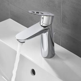 Grohe BauLoop single lever basin mixer, M-Size with plastic pop-up waste set
