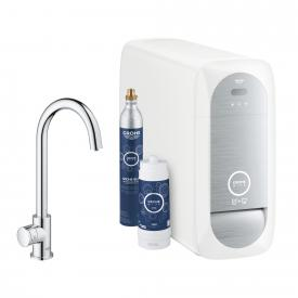 Grohe Blue Home MONO the NEW kitchen fitting with filter function, C spout chrome