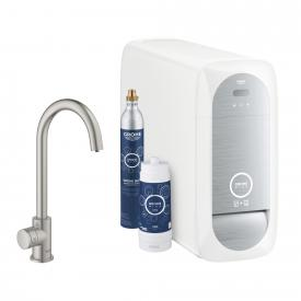 Grohe Blue Home MONO the NEW kitchen fitting with filter function, C spout supersteel