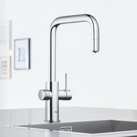 Grohe Blue Home the NEW kitchen fitting with filter function, U spout extendable chrome