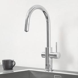 Grohe Blue Professional the NEW kitchen fitting with filter function, C spout extendable chrome