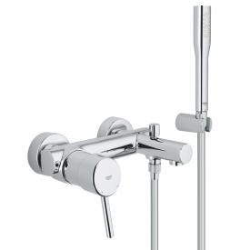 Grohe Concetto exposed single lever bath mixer with shower set
