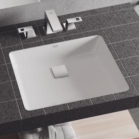 Grohe Cube Ceramic undercounter washbasin, white, with PureGuard hygiene coating