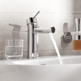 Grohe Essence single lever basin mixer, S-Size with pop-up waste set