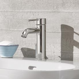 Grohe Essence single lever basin mixer, S size with pop-up waste set, chrome