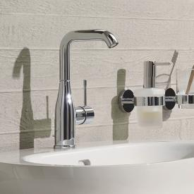 Grohe Essence single lever basin mixer, with swivel spout, L size with pop-up waste set, chrome