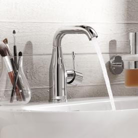 Grohe Essence single lever basin mixer with swivel spout, M size with pop-up waste set, chrome