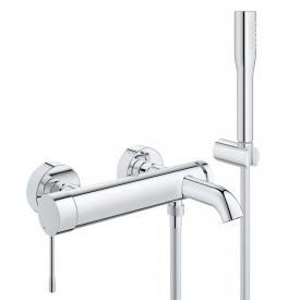 Grohe Essence single lever bath mixer, wall-mounted, with shower set
