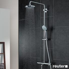 Grohe Euphoria wall-mounted shower system with shower arm 450 mm